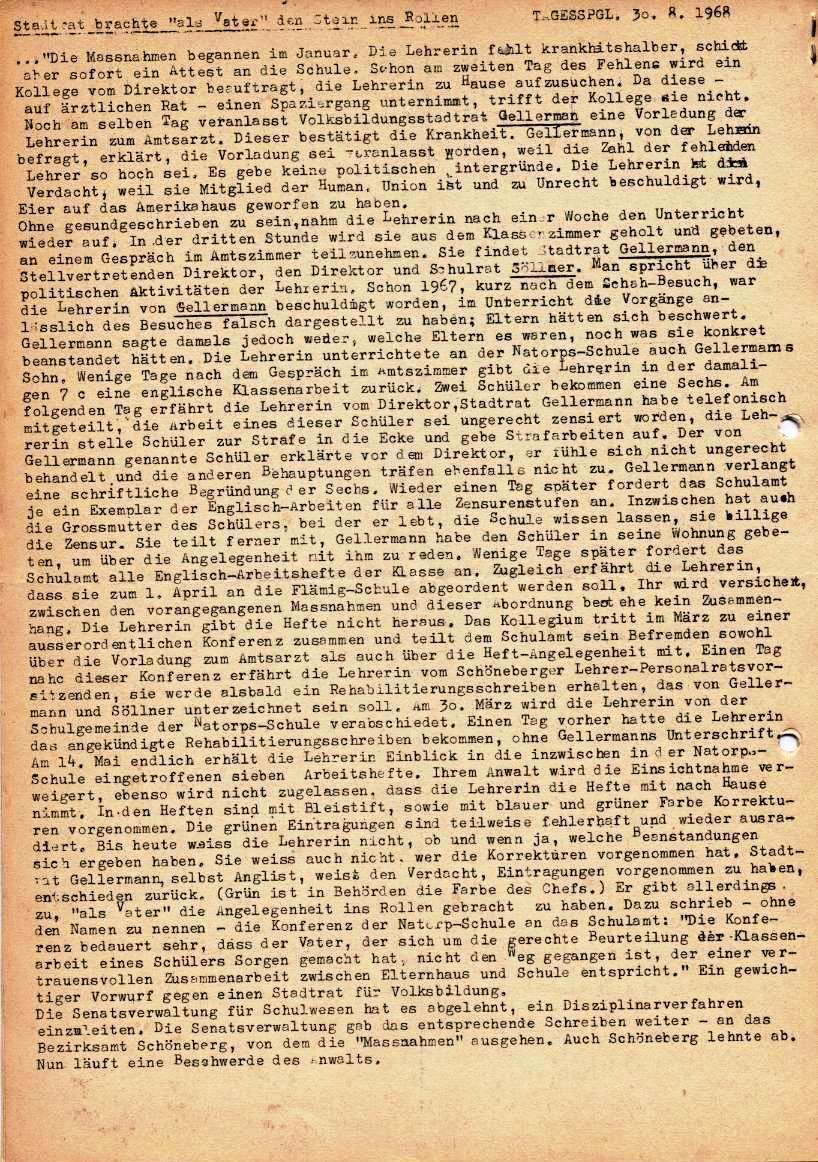 Nachrichtenblatt, Nr. 5, Berlin, 1968, Seite 8
