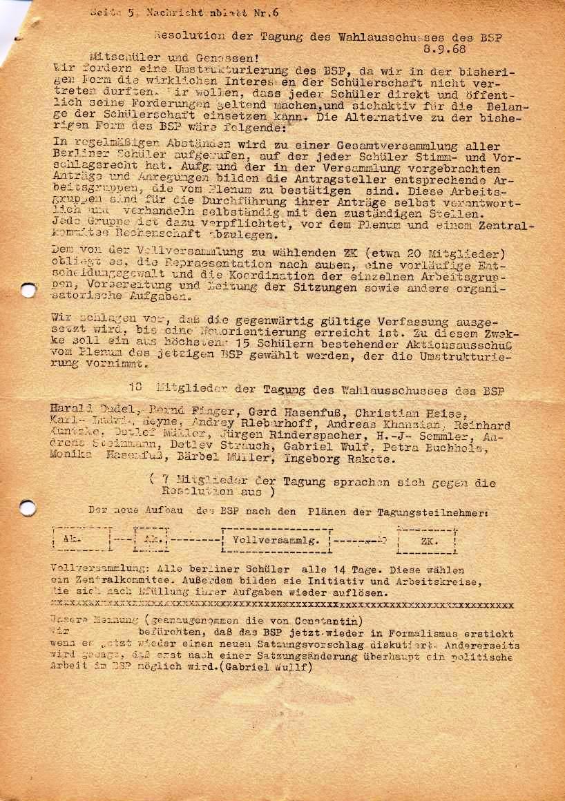 Nachrichtenblatt, Nr. 6, Berlin, 1968, Seite 5