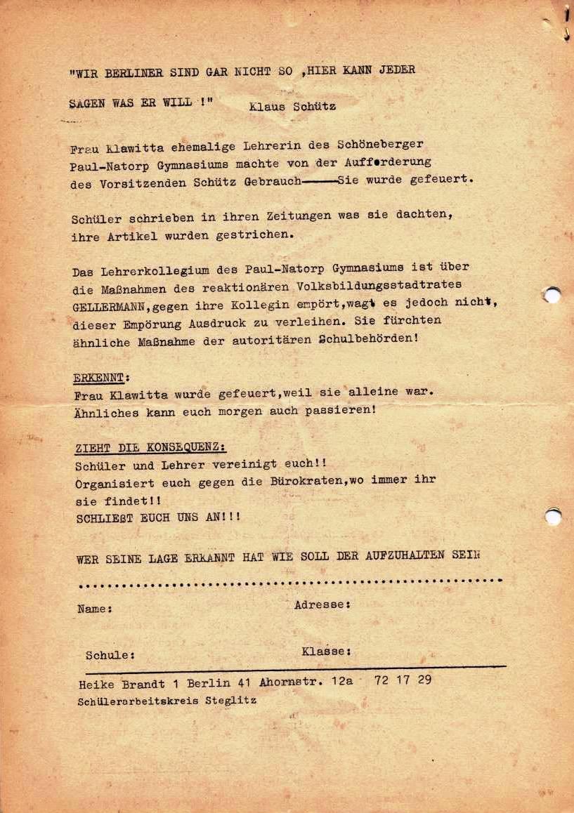 Nachrichtenblatt, Nr. 6, Berlin, 1968, Seite 6