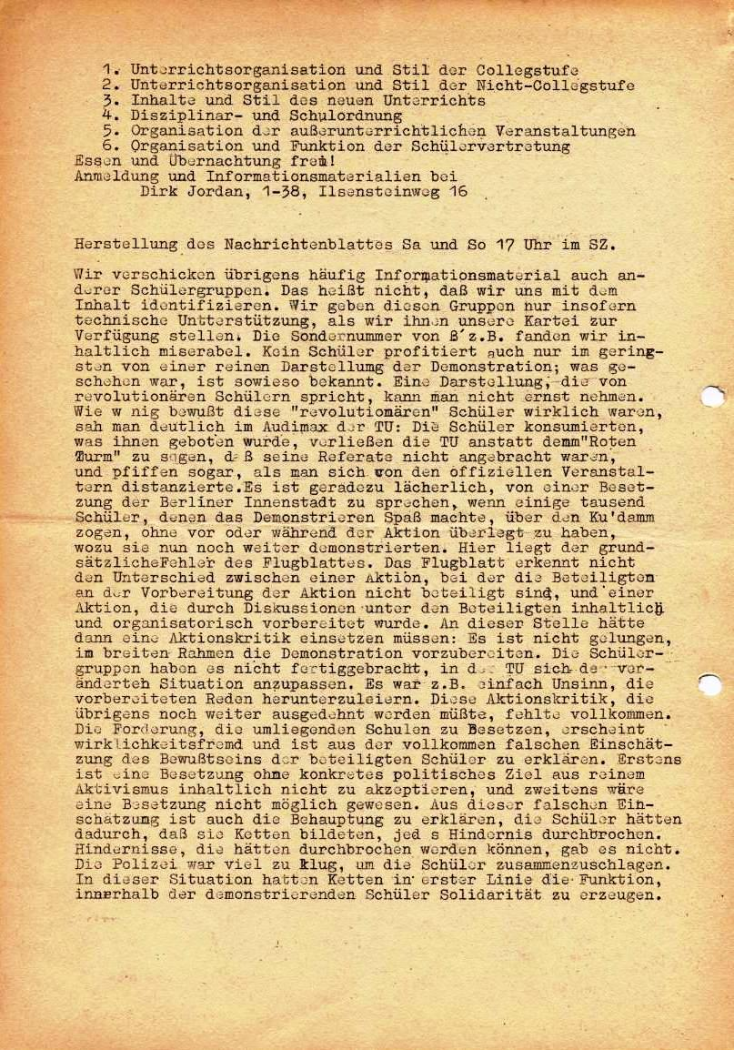 Nachrichtenblatt, Nr. 7, Berlin, 1968, Seite 2