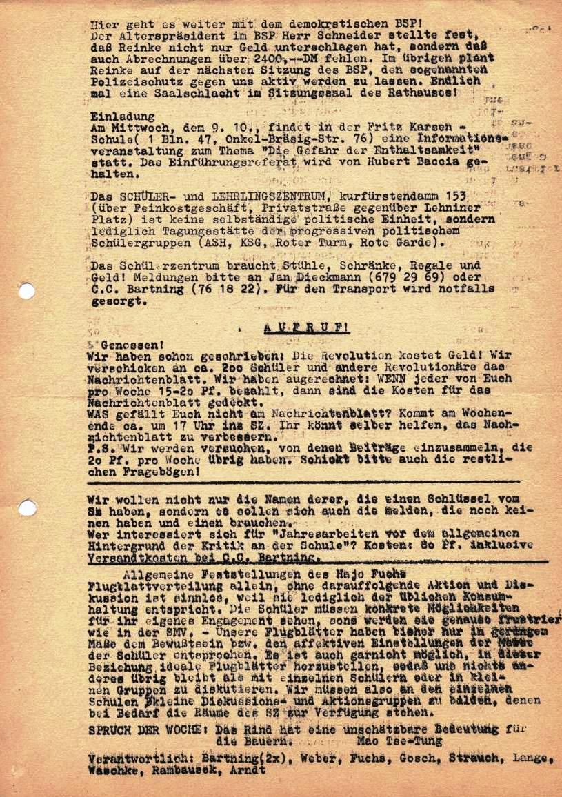 Nachrichtenblatt, Nr. 9, Berlin, 1968, Seite 2
