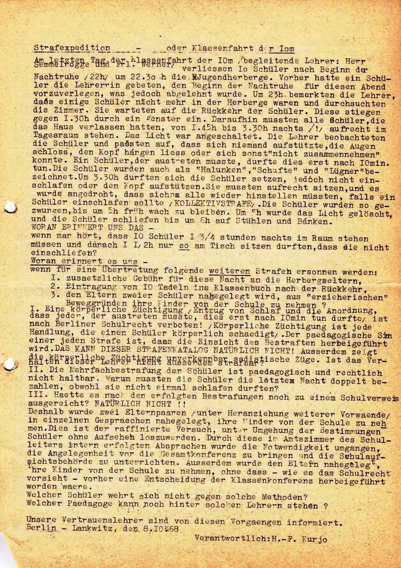 Nachrichtenblatt, Nr. 10, Berlin, 1968, Seite 2