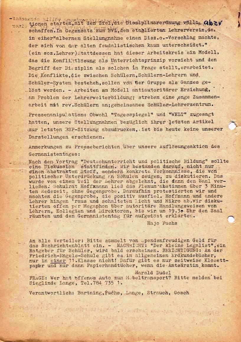 Nachrichtenblatt, Nr. 10, Berlin, 1968, Seite 4