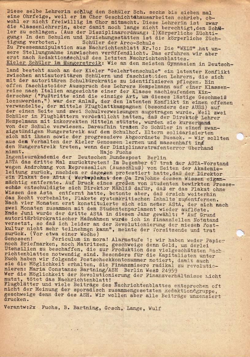 Nachrichtenblatt, Nr. 11, Berlin, 1968, Seite 2