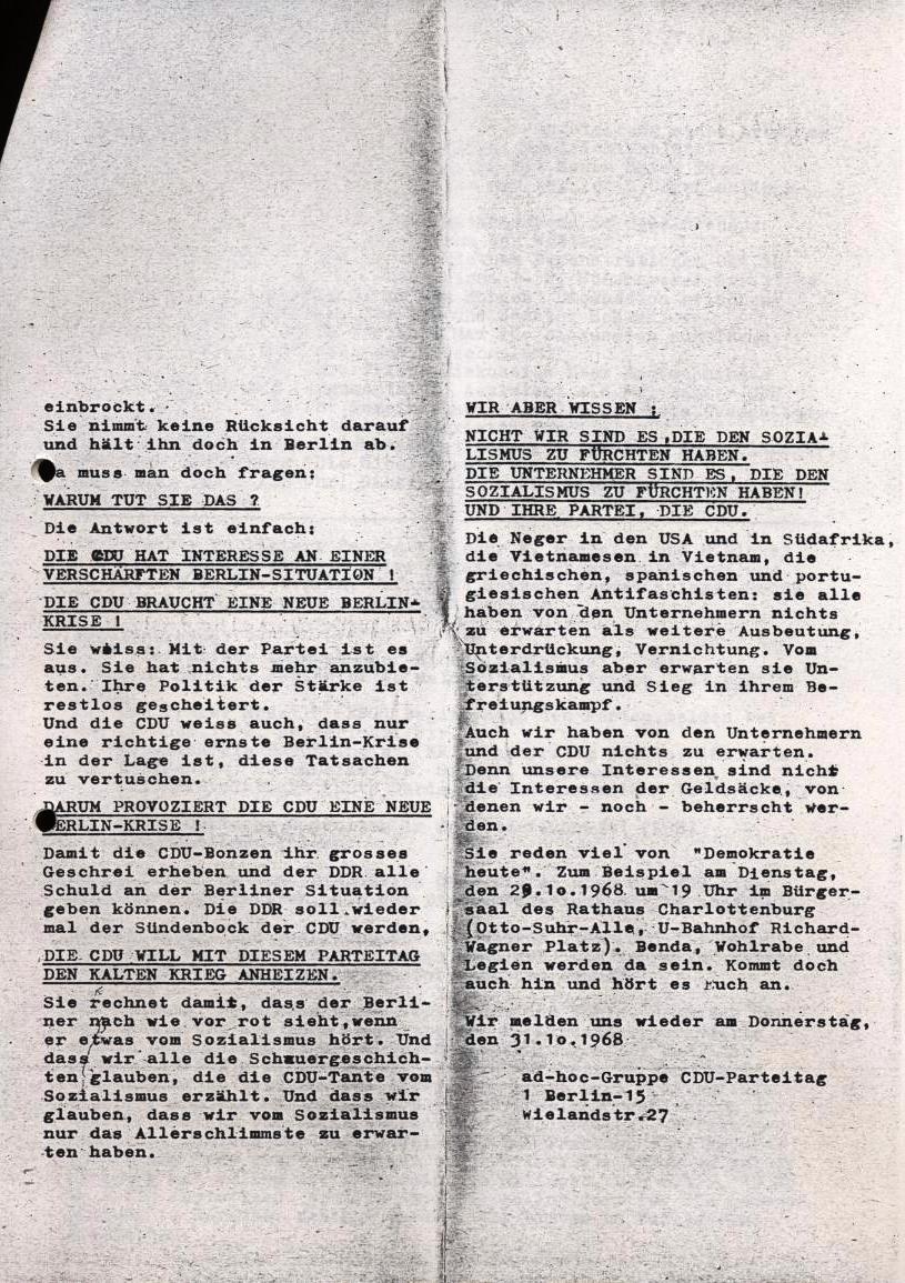 Nachrichtenblatt, Nr. 12, Berlin, 1968, Seite 6