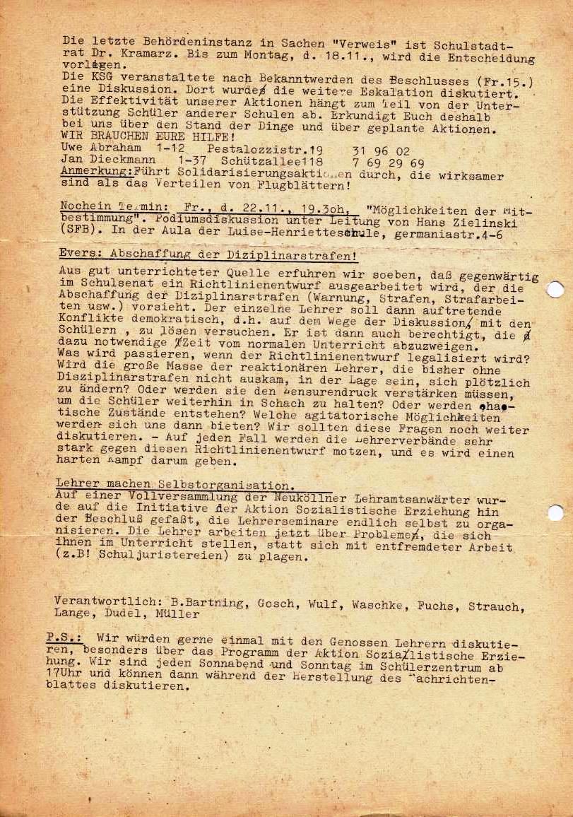 Nachrichtenblatt, Nr. 14, Berlin, 1968, Seite 2