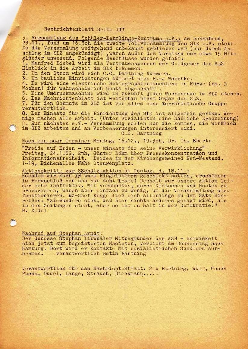 Nachrichtenblatt, Nr. 15, Berlin, 1968, Seite 3