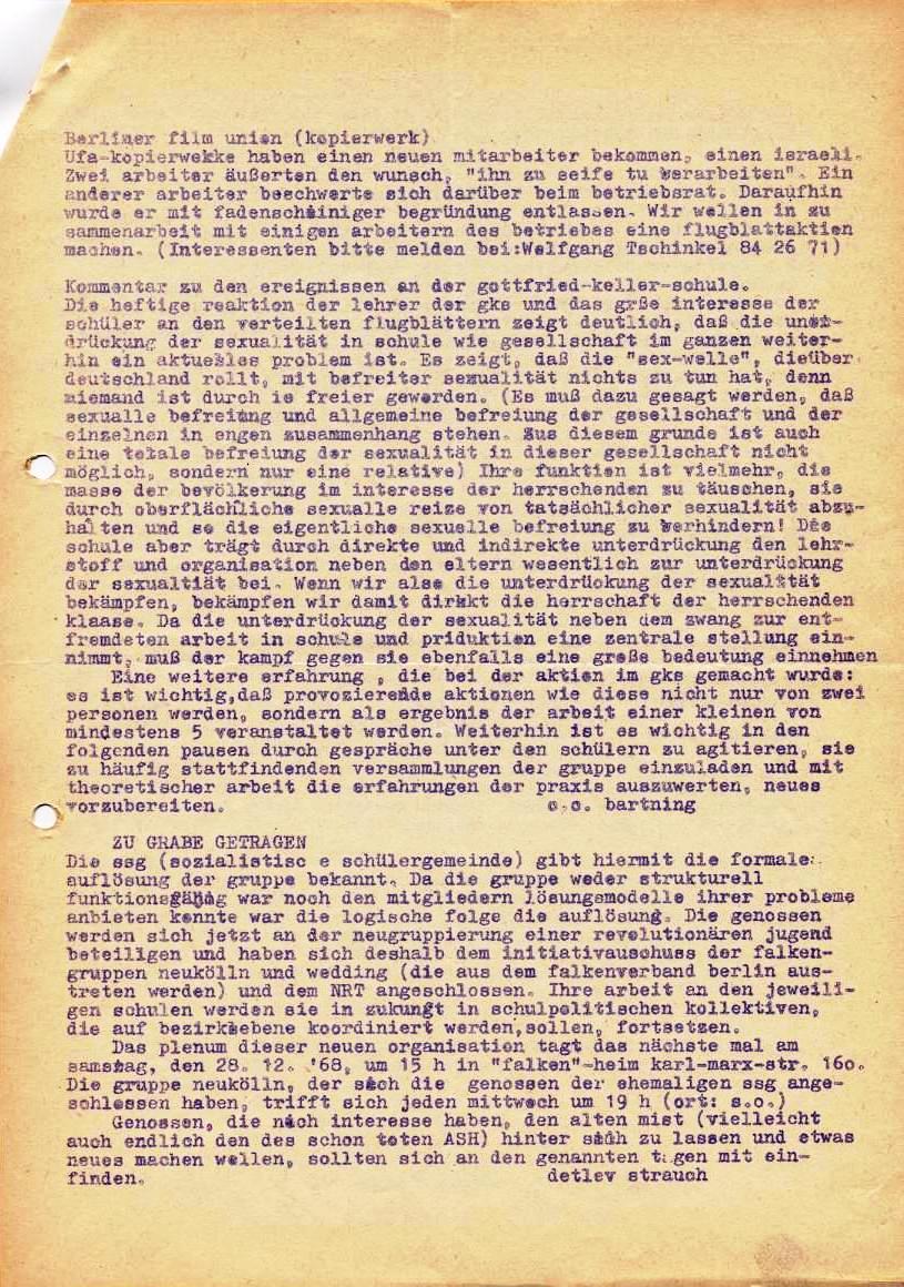 Nachrichtenblatt, Nr. 16, Berlin, 1968, Seite 3