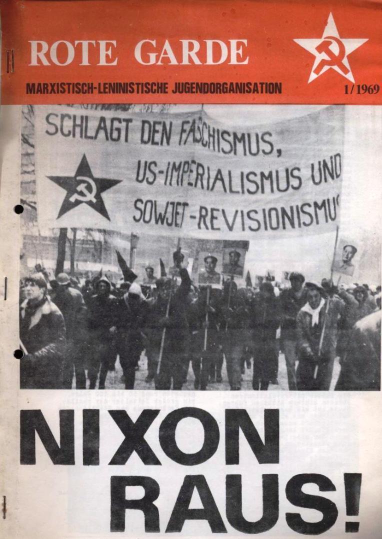 Zeitung der Roten Garde Berlin, Nr. 1/1969, S. 1