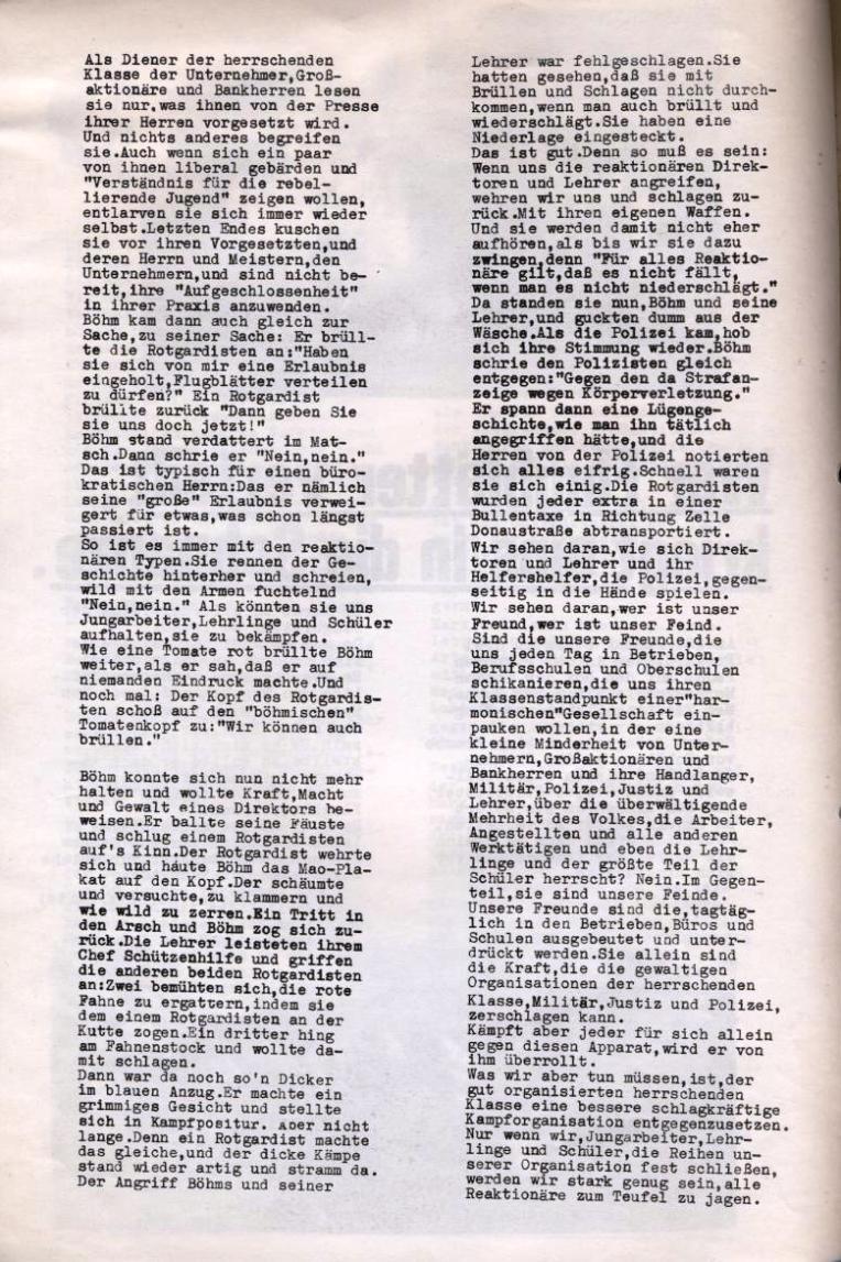 Zeitung der Roten Garde Berlin, Nr. 1/1969, S. 4