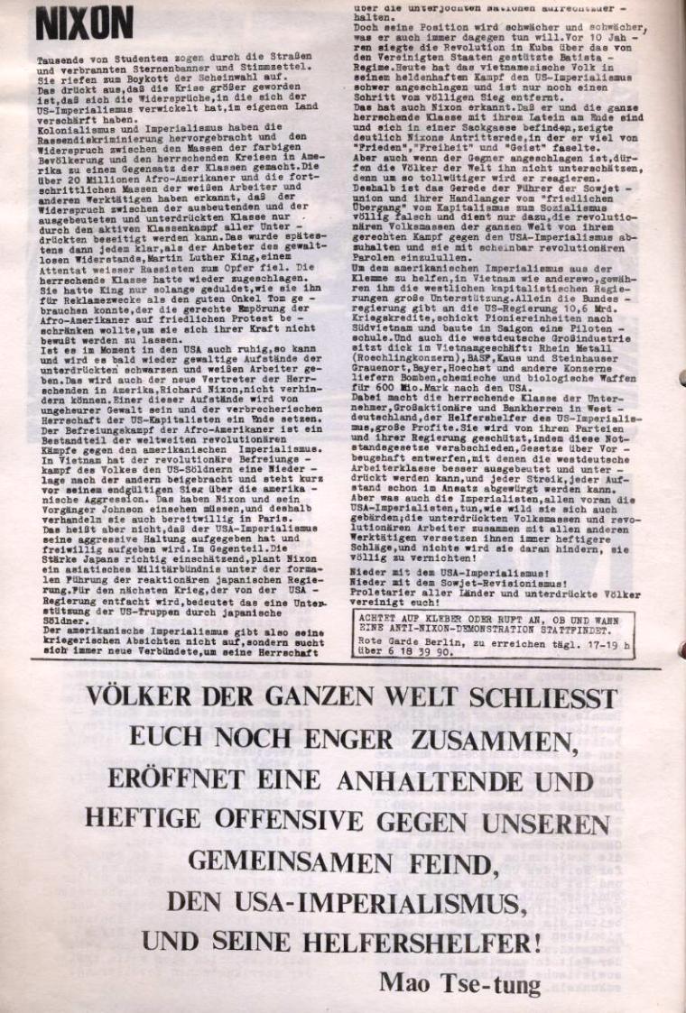 Zeitung der Roten Garde Berlin, Nr. 1/1969, S. 6