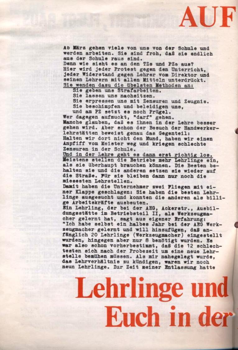 Zeitung der Roten Garde Berlin, Nr. 1/1969, S. 8