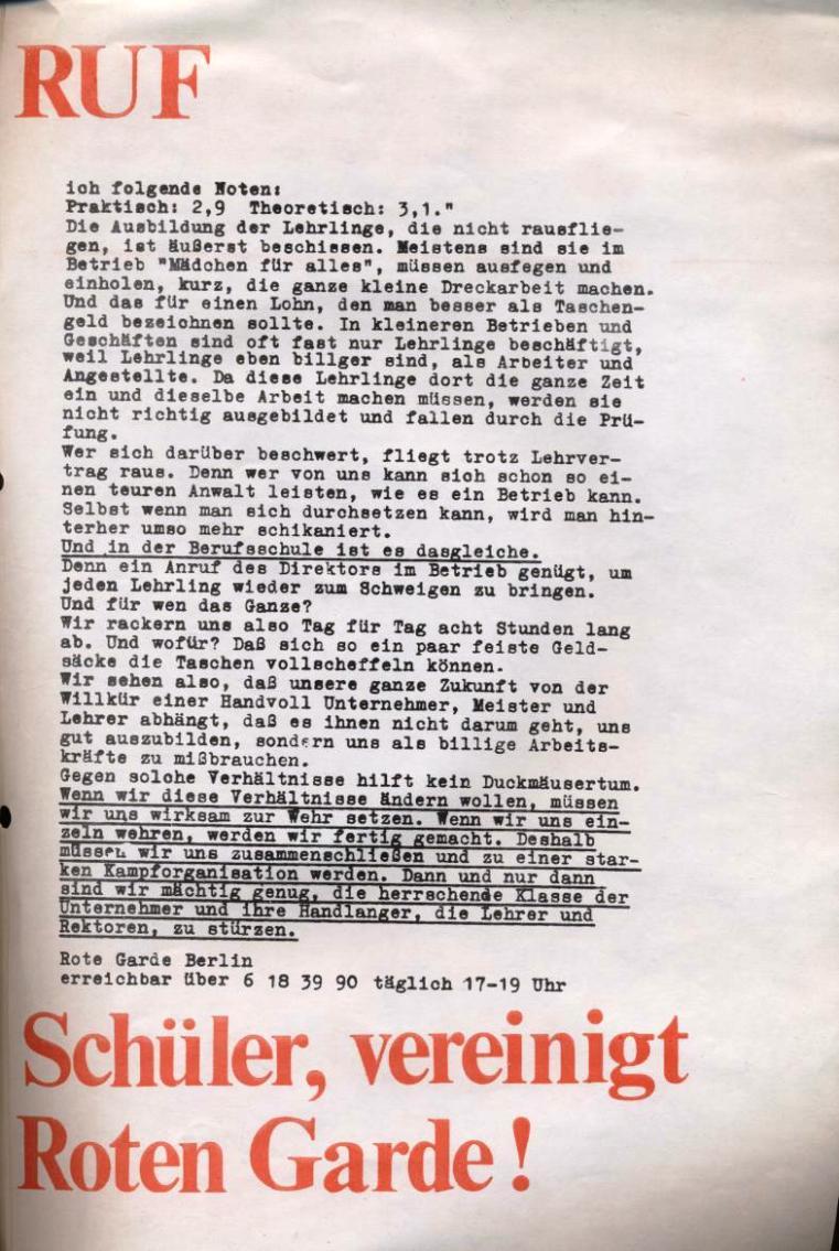 Zeitung der Roten Garde Berlin, Nr. 1/1969, S. 9