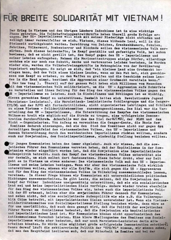 Für breite Solidaritauml;t mit Vietnam! (Flugblatt, 1972, Vorderseite)