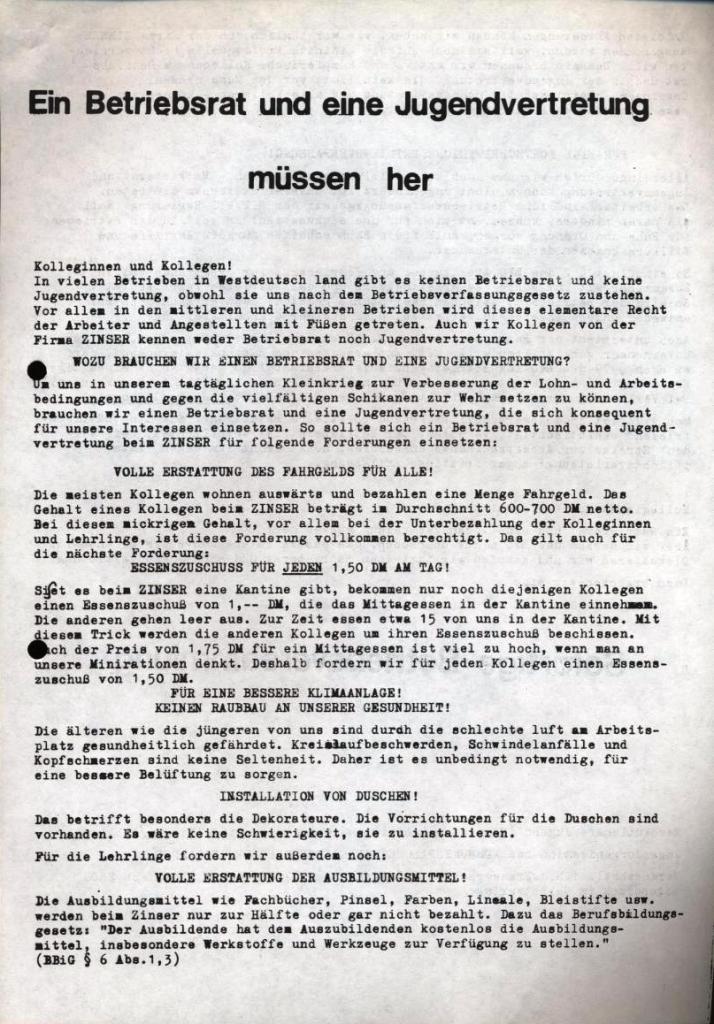RJ/ML_Flugblatt für Zinser Ebersbach (September 1972, Vorderseite)