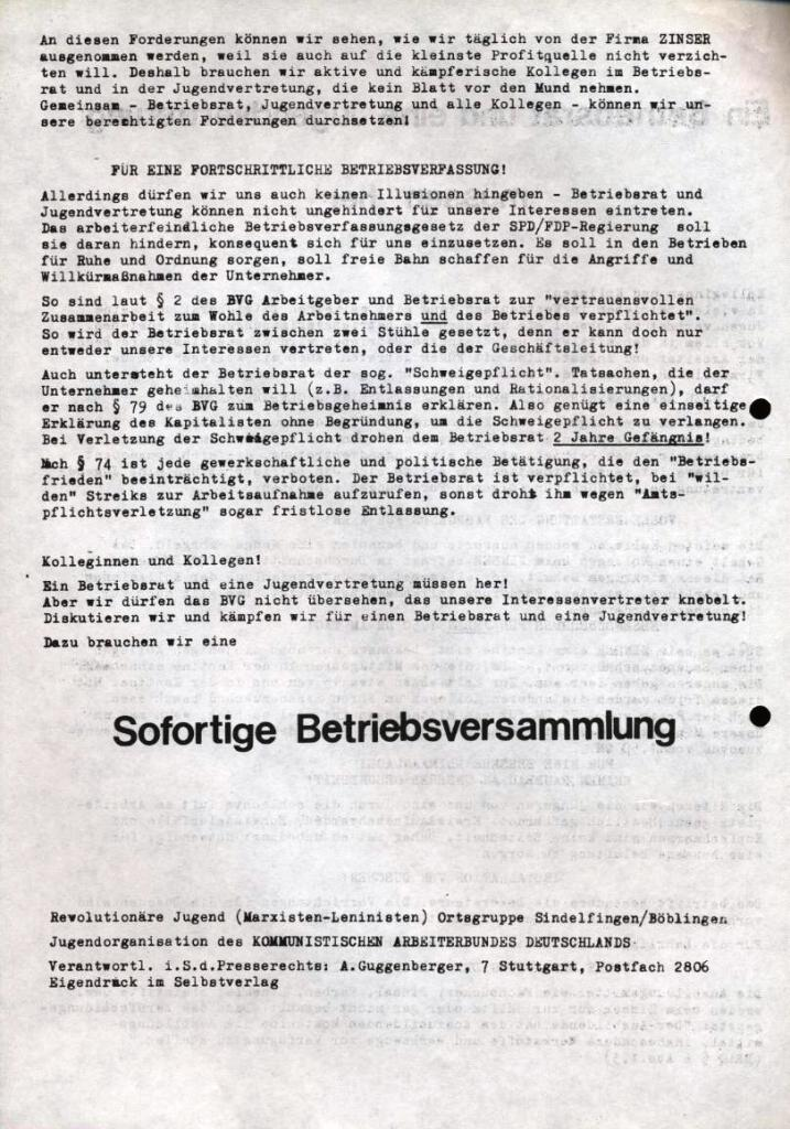 RJ/ML_Flugblatt für Zinser Ebersbach (September 1972, Rückseite)