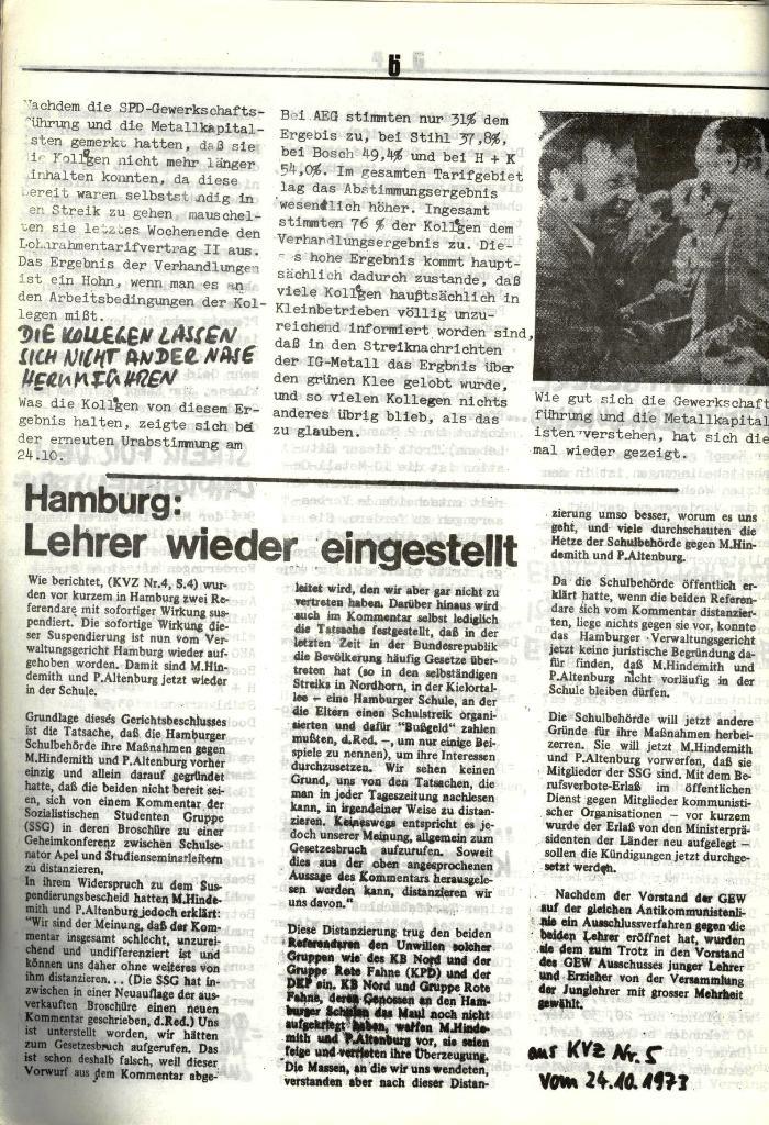 Schulkampf, hg. von der Schülerkommission des KBW, Ortsgruppe Waiblingen, Nr. 1, 27.10.1973, Seite 6