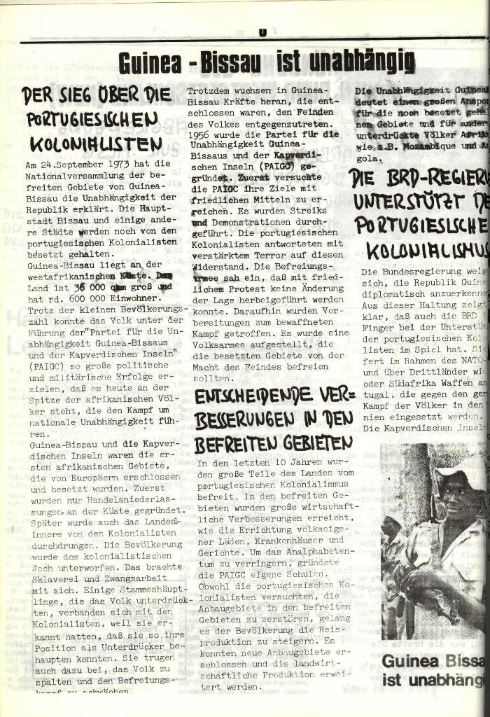 Schulkampf, hg. von der Schülerkommission des KBW, Ortsgruppe Waiblingen, Nr. 1, 27.10.1973, Seite 8