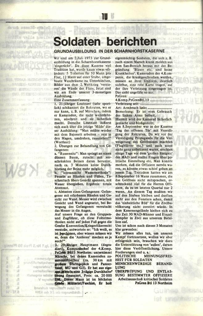 Schulkampf, hg. von der Schülerkommission des KBW, Ortsgruppe Waiblingen, Nr. 1, 27.10.1973, Seite 10