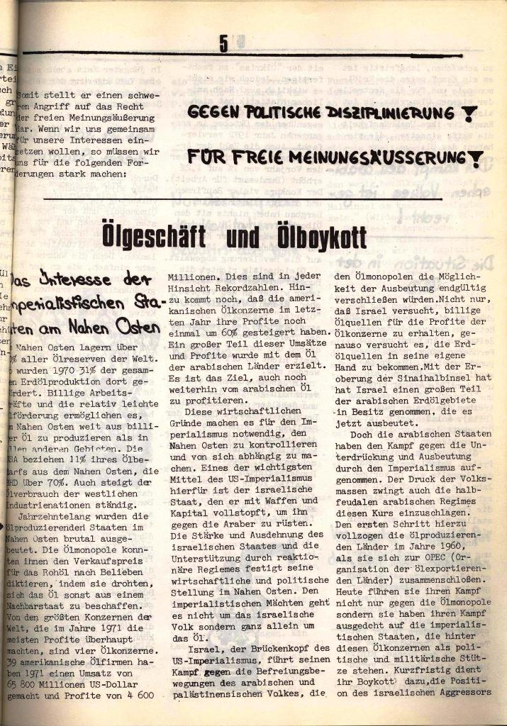 Schulkampf, hg. von der Schülerkommission des KBW, Ortsgruppe Waiblingen, Nr. 3, 5.11.1973, Seite 5