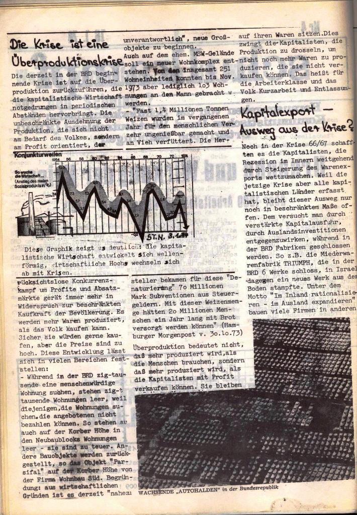 Schulkampf, hg. von der Schülerkommission des KBW, Ortsgruppe Waiblingen, Nr. 4, 16.1.1974, Seite 2