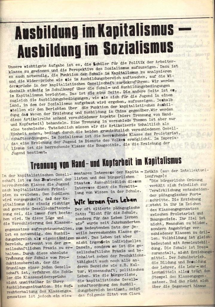 Schulkampf, hg. von der Schülerkommission des KBW, Ortsgruppe Waiblingen, Nr. 4, 16.1.1974, Seite 5