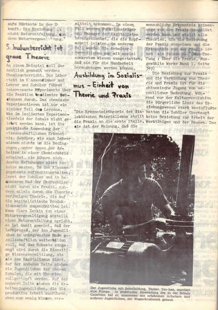 Schulkampf, hg. von der Schülerkommission des KBW, Ortsgruppe Waiblingen, Nr. 4, 16.1.1974, Seite 6