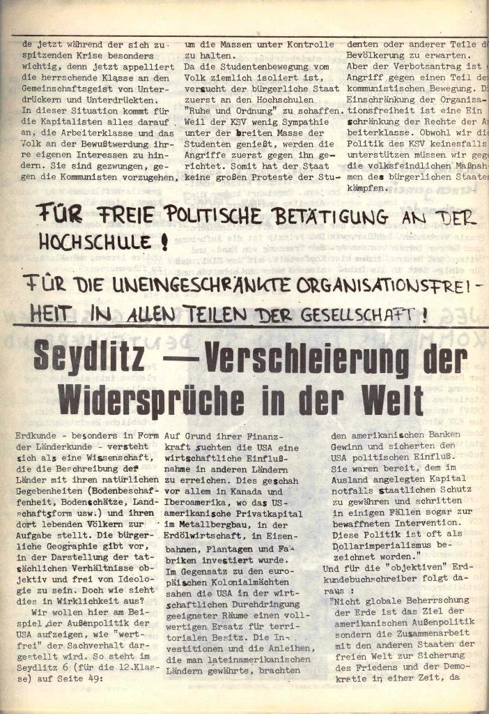 Schulkampf, hg. von der Schülerkommission des KBW, Ortsgruppe Waiblingen, Nr. 4, 16.1.1974, Seite 8