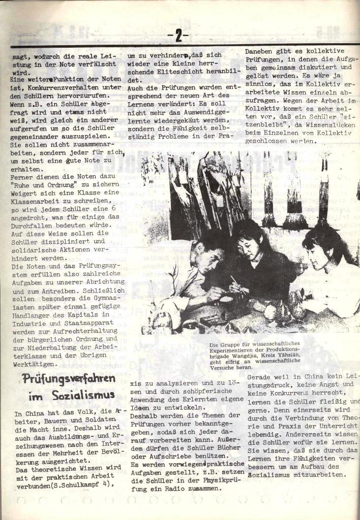 Schulkampf, hg. von der Schülerkommission des KBW, Ortsgruppe Waiblingen, Nr. 5, 13.2.1974, Seite 2