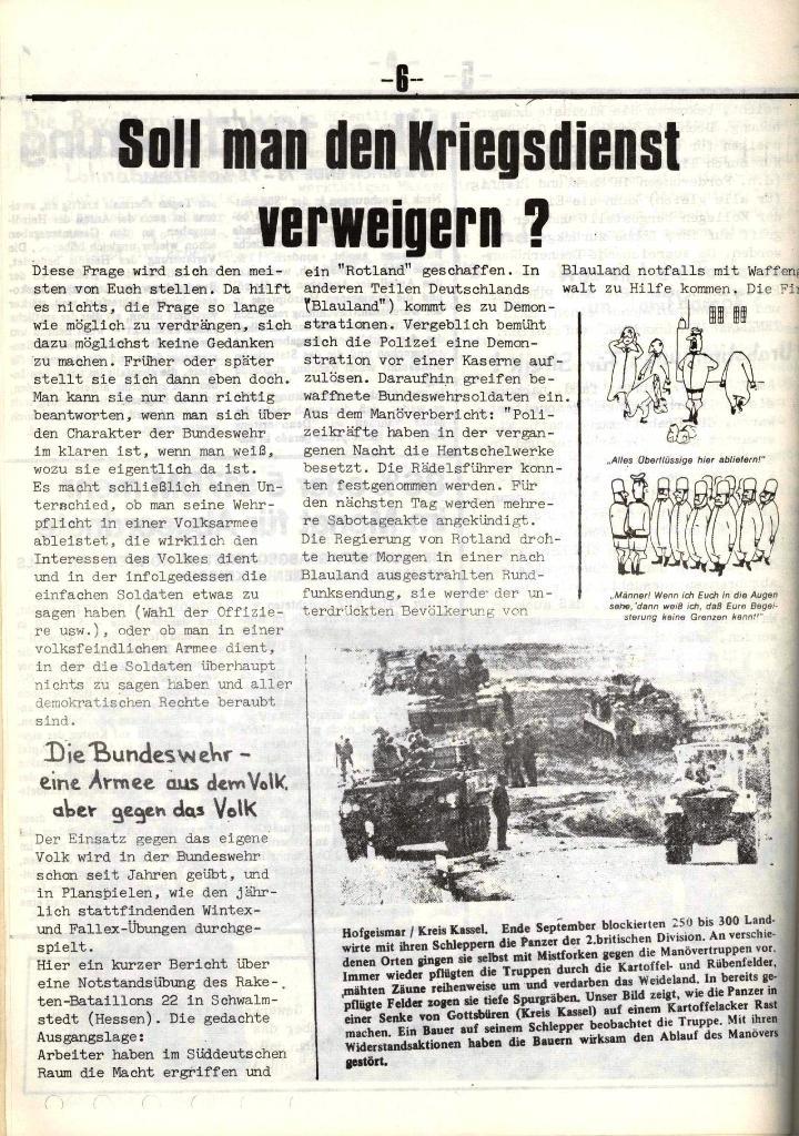 Schulkampf, hg. von der Schülerkommission des KBW, Ortsgruppe Waiblingen, Nr. 5, 13.2.1974, Seite 6