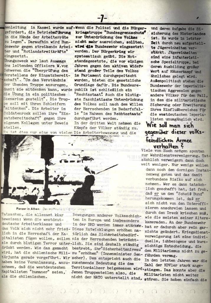Schulkampf, hg. von der Schülerkommission des KBW, Ortsgruppe Waiblingen, Nr. 5, 13.2.1974, Seite 7