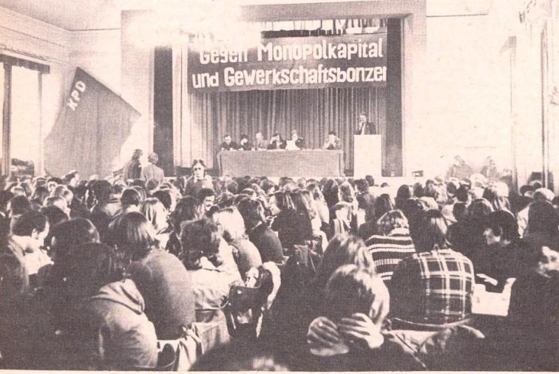 Foto: Der Erste Kongress der RGO der KPD am 14.4.1973 (Quelle: Dem Volke dienen)