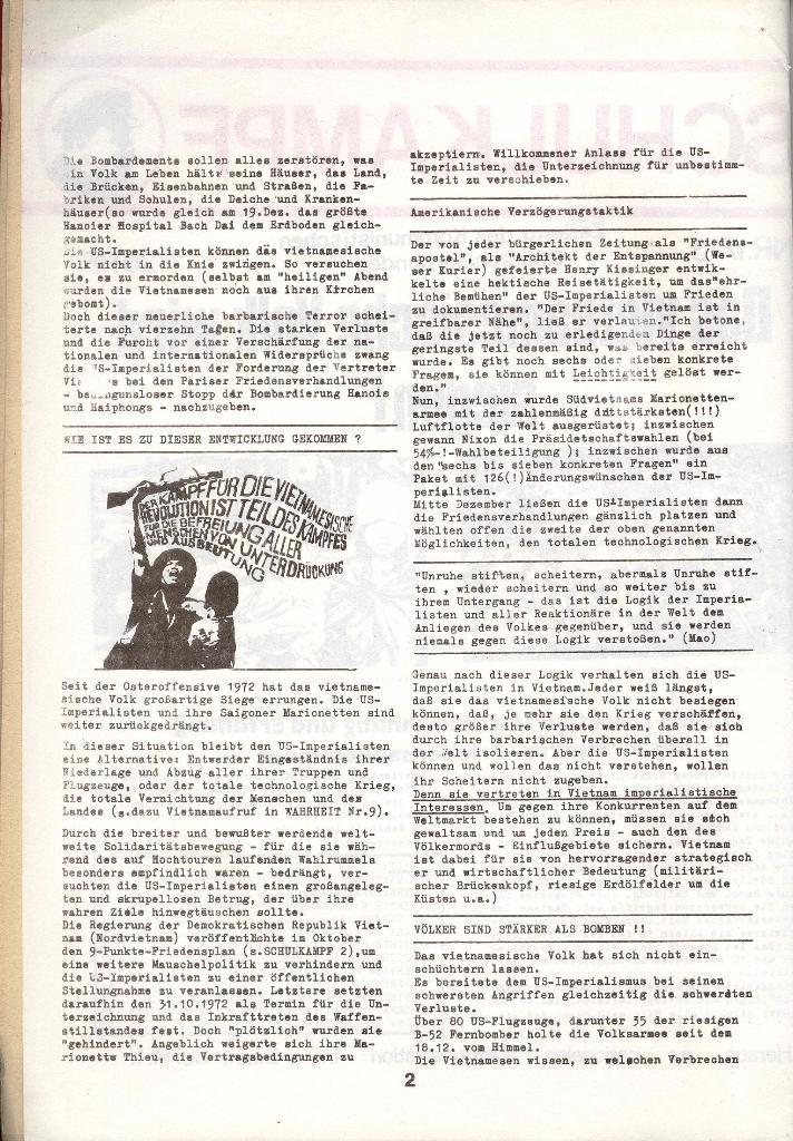 Schulkampf _ Zeitung des KOB, Nr. 1/73, Seite 2