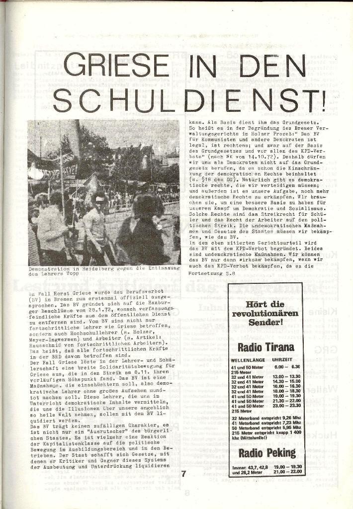 Schulkampf _ Zeitung des KOB, Nr. 1/73, Seite 7