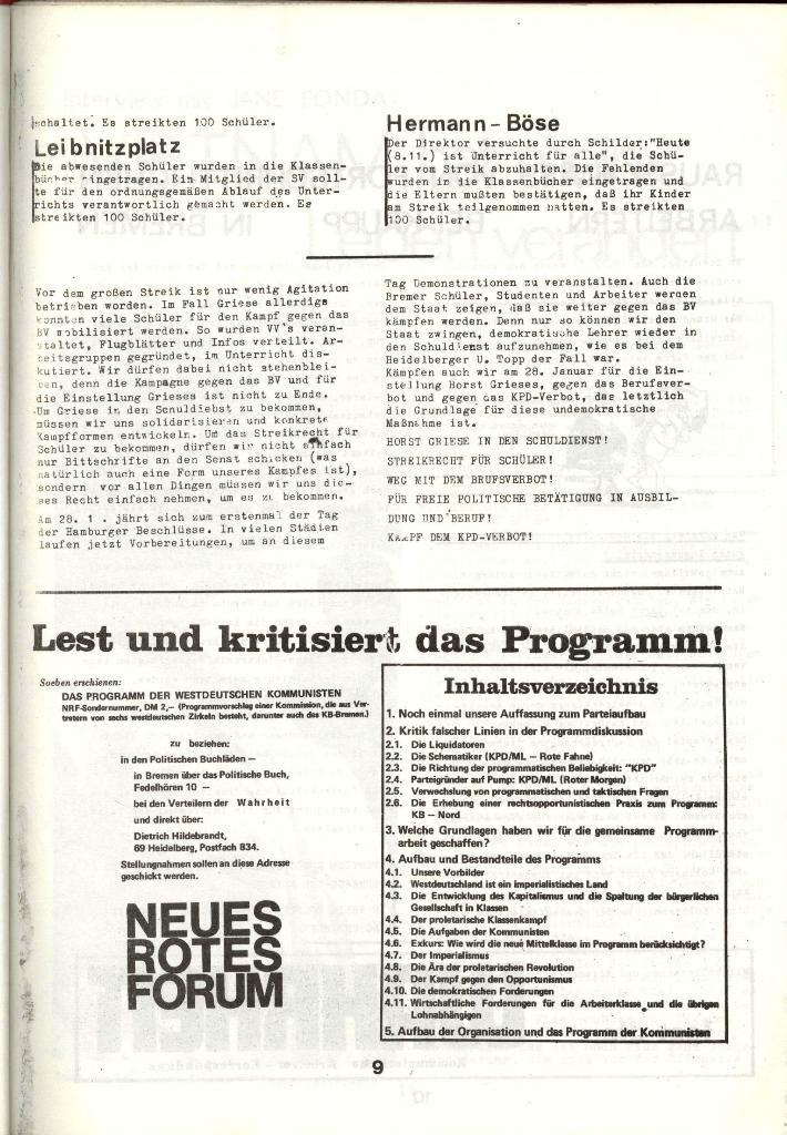 Schulkampf _ Zeitung des KOB, Nr. 1/73, Seite 9