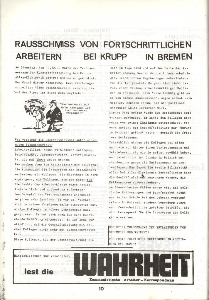 Schulkampf _ Zeitung des KOB, Nr. 1/73, Seite 10