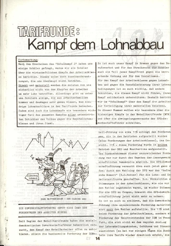 Schulkampf _ Zeitung des KOB, Nr. 1/73, Seite 14