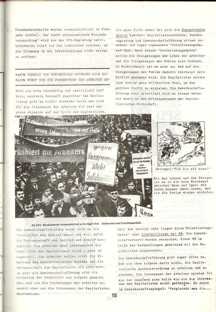 Schulkampf _ Zeitung des KOB, Nr. 1/73, Seite 15