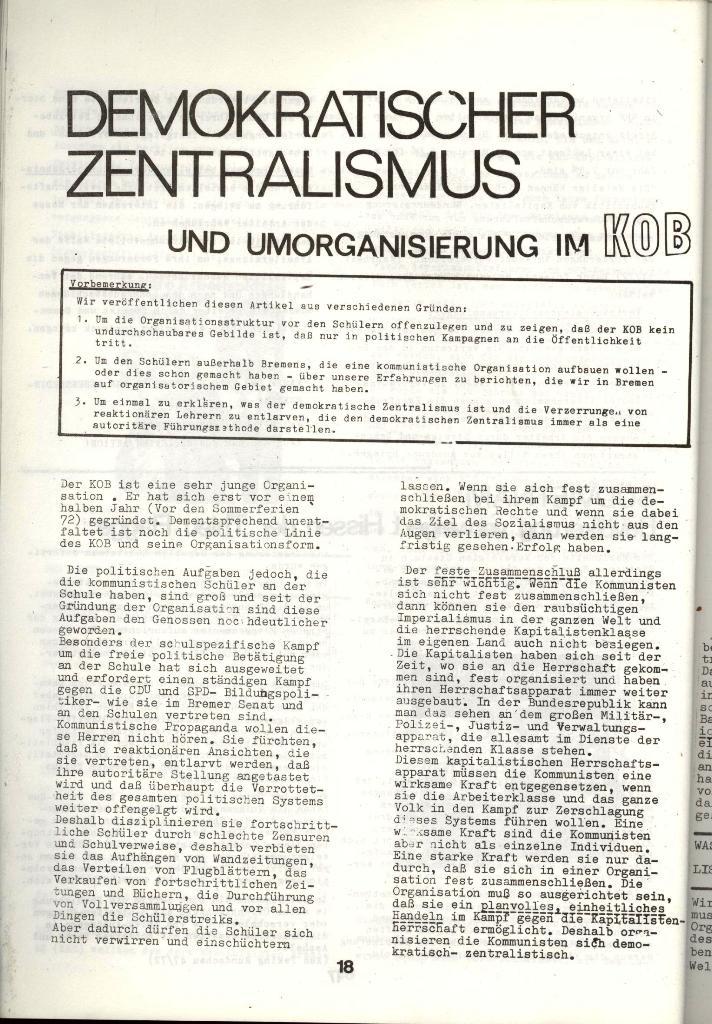Schulkampf _ Zeitung des KOB, Nr. 1/73, Seite 18