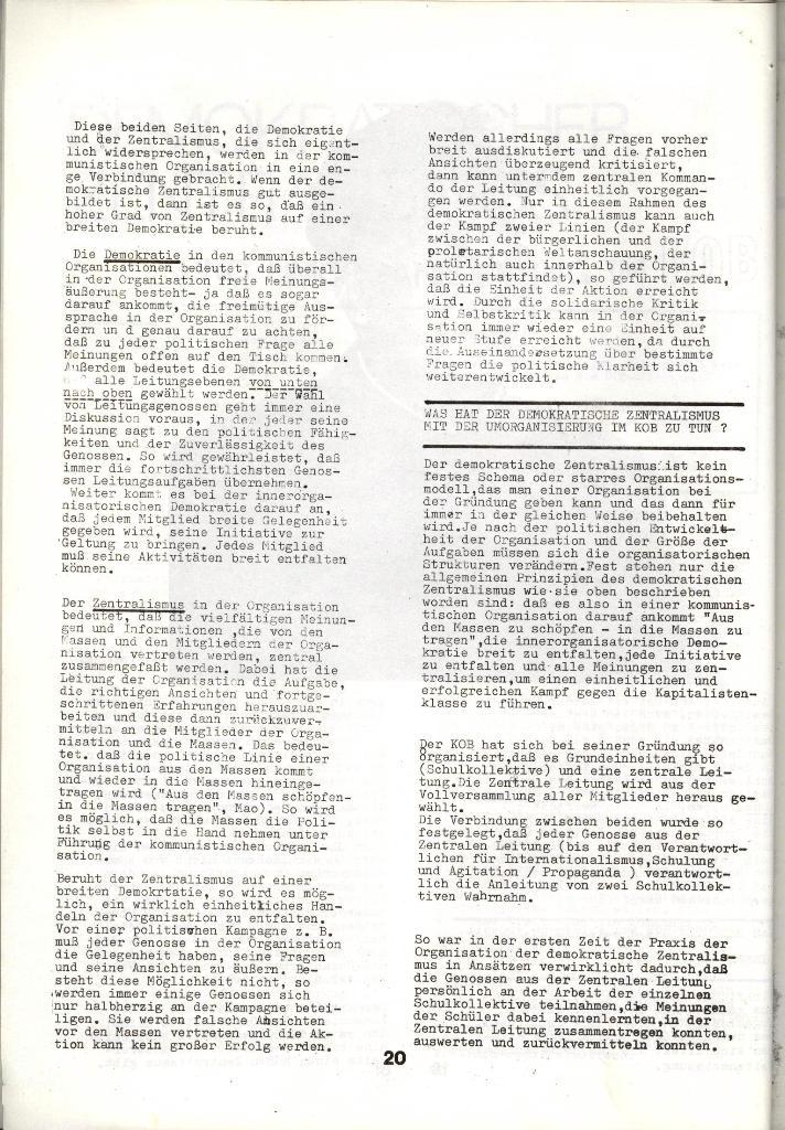 Schulkampf _ Zeitung des KOB, Nr. 1/73, Seite 20
