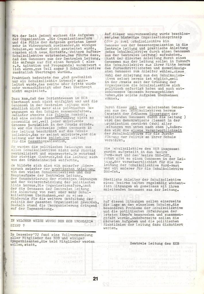 Schulkampf _ Zeitung des KOB, Nr. 1/73, Seite 21