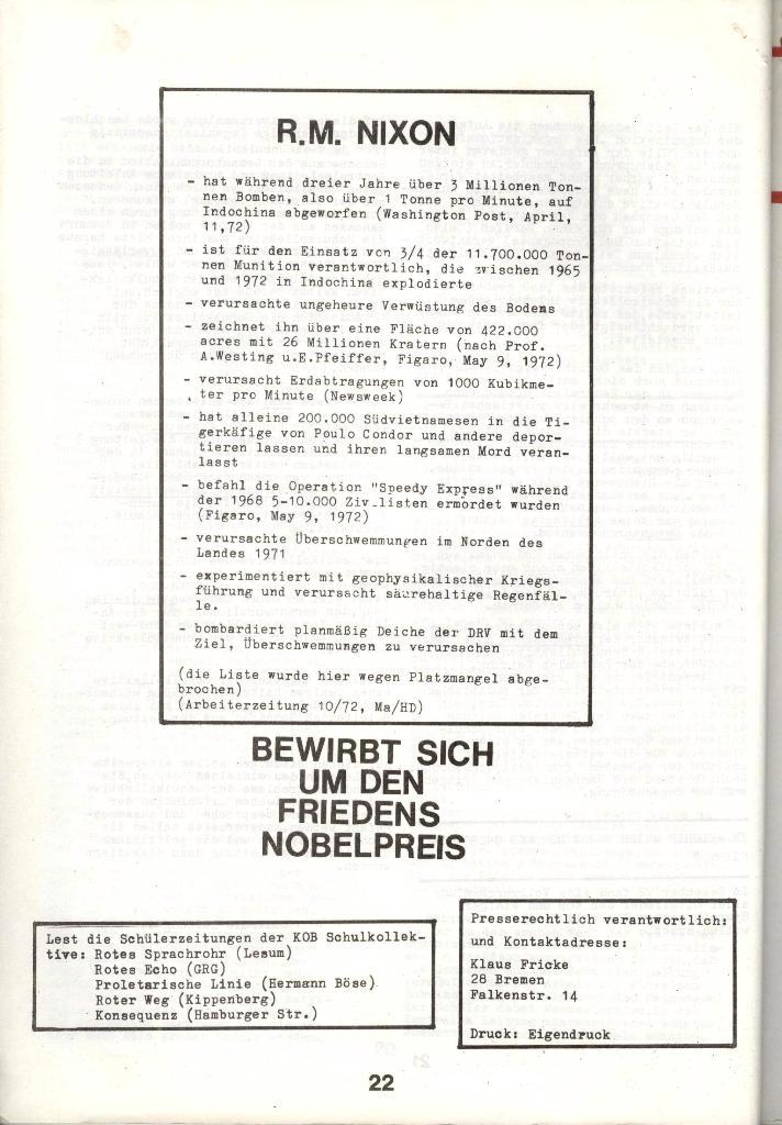 Schulkampf _ Zeitung des KOB, Nr. 1/73, Seite 22