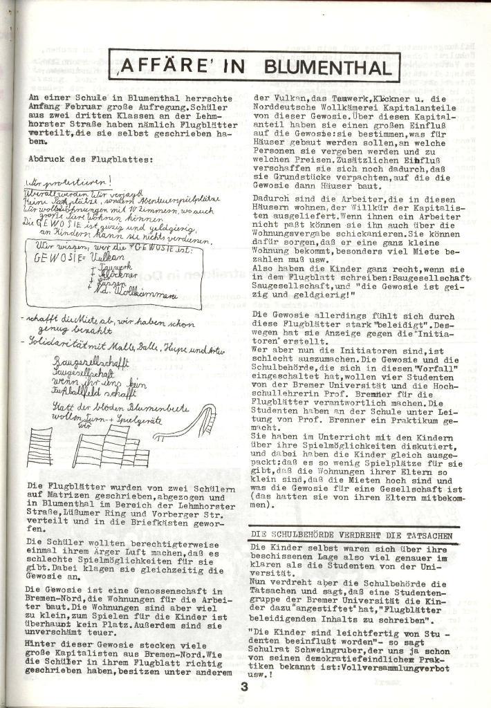 Schulkampf _ Zeitung des KOB, Nr. 3/73, Seite 3
