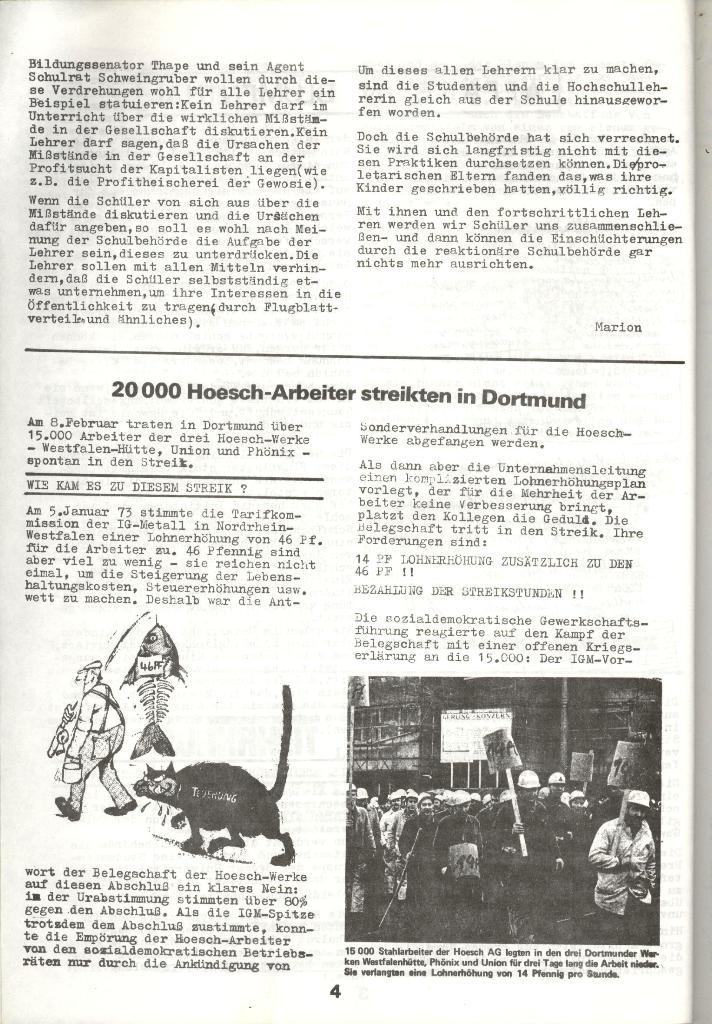 Schulkampf _ Zeitung des KOB, Nr. 3/73, Seite 4