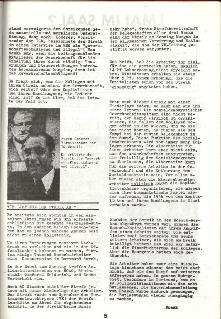 Schulkampf _ Zeitung des KOB, Nr. 3/73, Seite 5