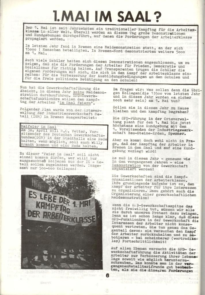 Schulkampf _ Zeitung des KOB, Nr. 3/73, Seite 6