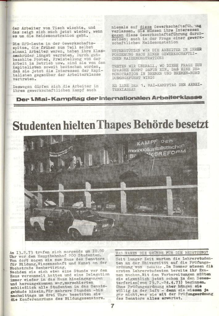 Schulkampf _ Zeitung des KOB, Nr. 3/73, Seite 7