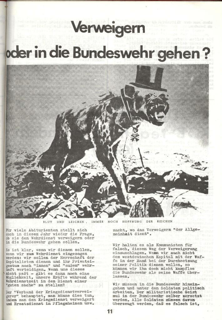 Schulkampf _ Zeitung des KOB, Nr. 3/73, Seite 11