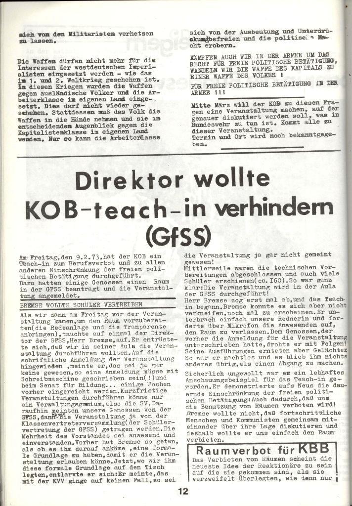 Schulkampf _ Zeitung des KOB, Nr. 3/73, Seite 12