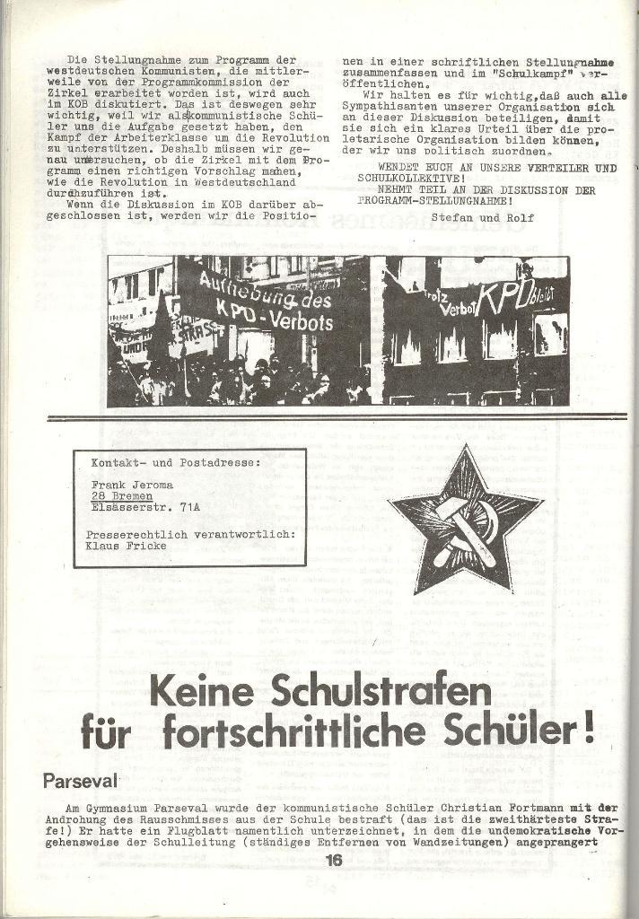 Schulkampf _ Zeitung des KOB, Nr. 3/73, Seite 16